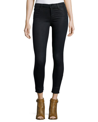Alana Cropped Coated Jeans, Black Elixer