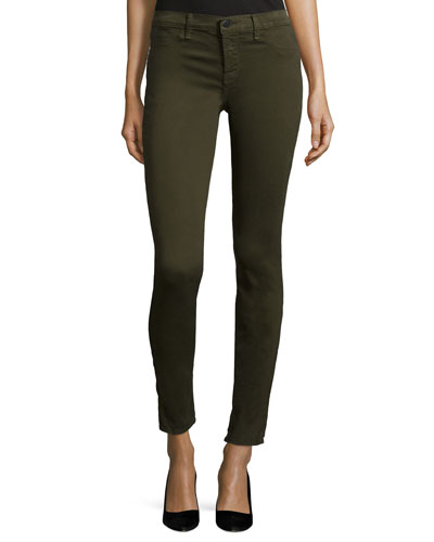 485 Mid-Rise Super-Skinny Jeans, Camo