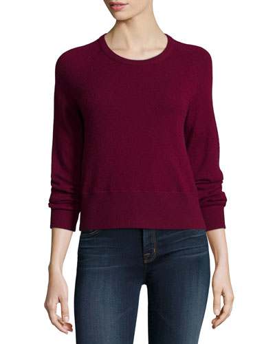 Dauphine Cashmere Sweater, Sangria
