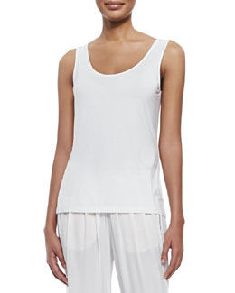 Neely Knit Tank, White
