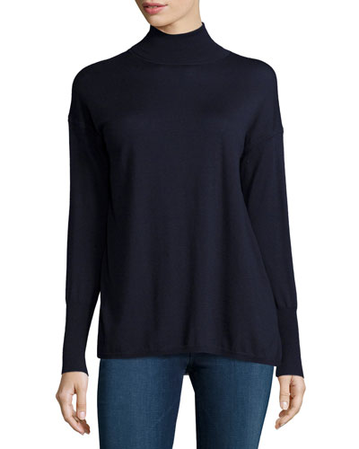 Clinton Long-Sleeve Combo Sweater, Navy