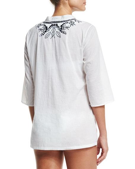 Jasmine Embellished Coverup Tunic