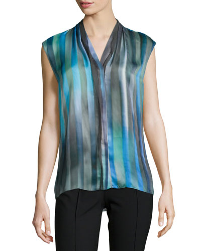 Adira Sleeveless Striped Blouse