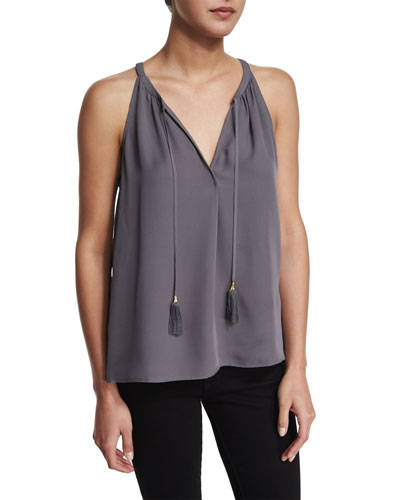 Ziba Sleeveless Silk Top