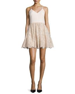 Julianne Ballerina Party Dress, Gold