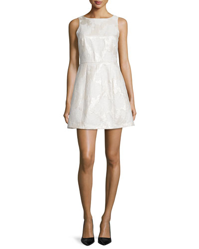Mea Sleeveless Lantern Dress, Cream