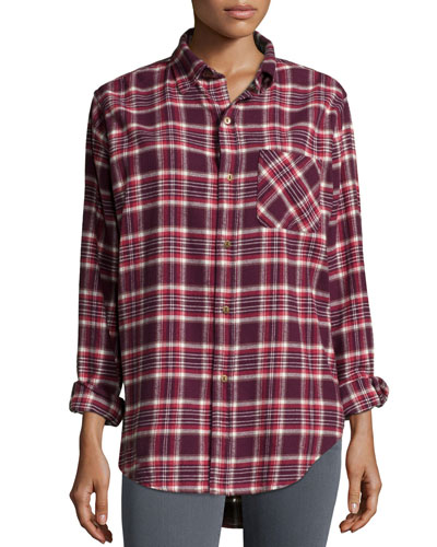 The Prep School Shirt, Cranberry Plaid