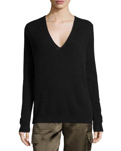 Adrianna R. Cashmere Sweater, Black