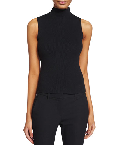 Ninsy Sleeveless Mock-Neck Sweater