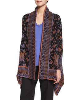 Long-Sleeve Printed Cardigan