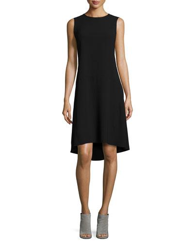 Asymmetric Drop-Waist Dress
