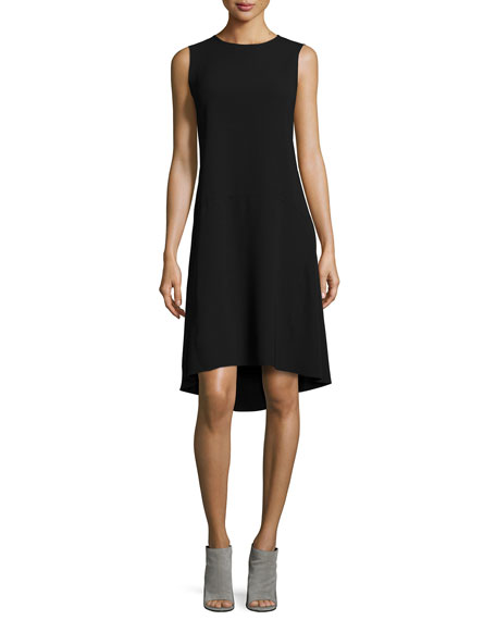 Asymmetric Drop-Waist Dress
