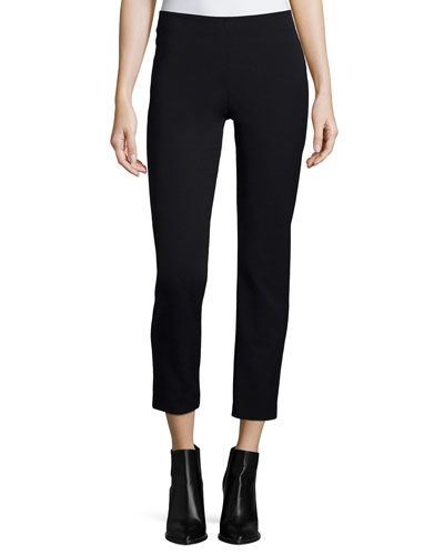 Slim-Fit Side-Zip Trousers