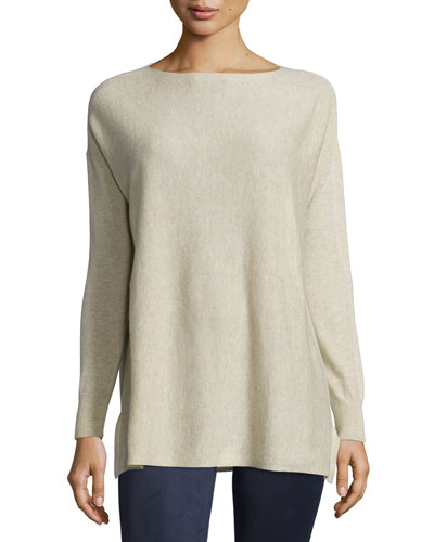 Rib-Stitched Cashmere Sweater