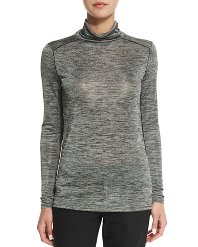 Slim-Fit Heathered Turtleneck Sweater