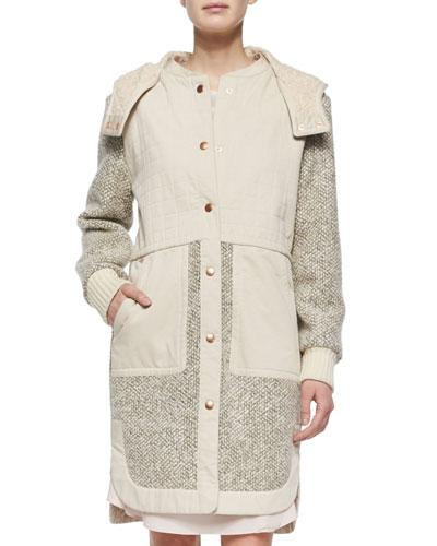 Tweed Hooded Anorak