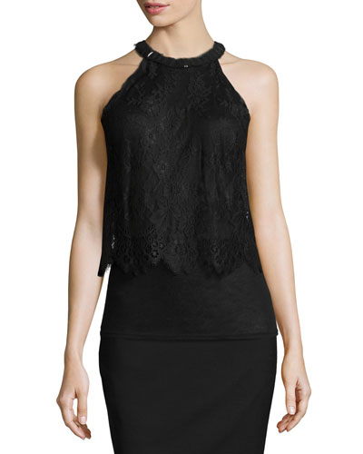 Fey Halter Lace Blouse