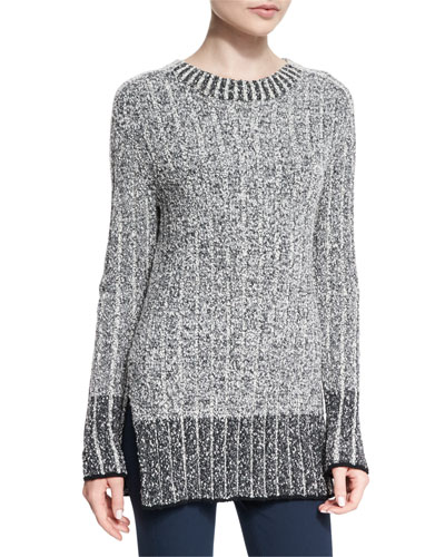 Callista Ribbed Crewneck Sweater