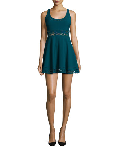 Kenton Sleeveless Mini Dress, Prussian Blue