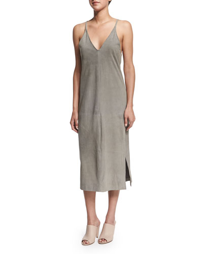 Kym S Soft Suede Slip Dress
