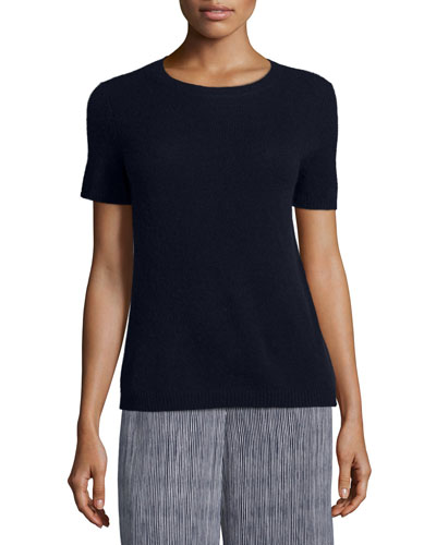Tolleree B Short-Sleeve Cashmere Sweater