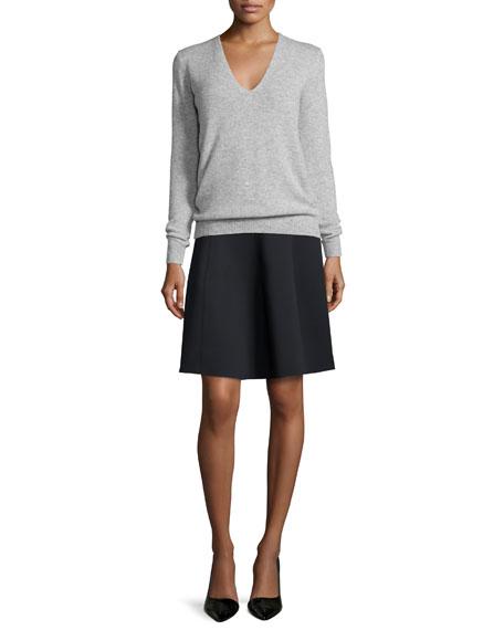 Igtios Mod Knit A-Line Skirt, Black