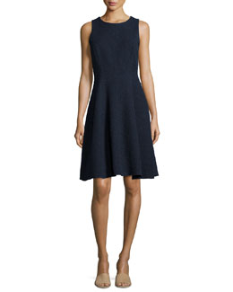 Udela Spring Tweed Sleeveless Dress