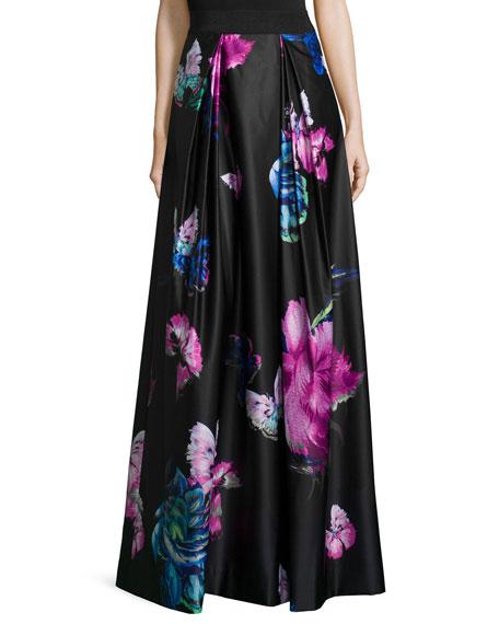 Katie Butterfly-Print Maxi Skirt