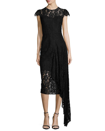 Margaret Asymmetric Lace Dress