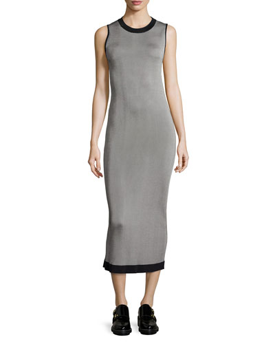 Lelia Sleeveless Body-Conscious Midi Dress