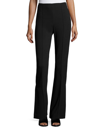 Nora High-Waist Flare Pants, Black