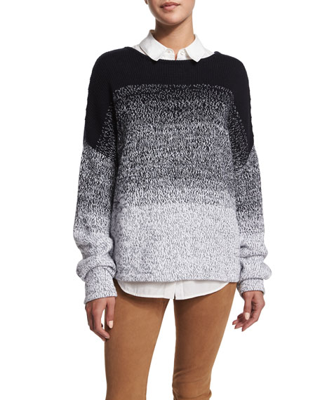 Textured Ombre Pullover Sweater