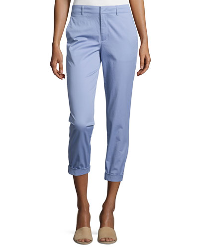 Rolled-Cuff Boyfriend Trousers