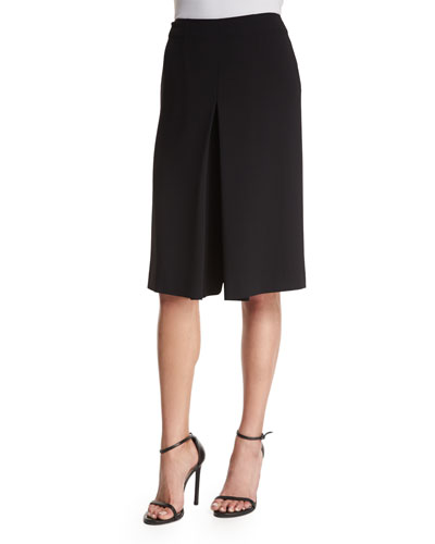 Clive Inverted-Pleat Culotte, Black