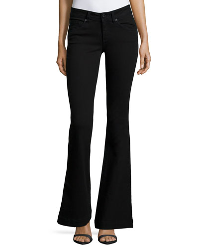 Joy Flare-Leg Jeans, Hail (Black)