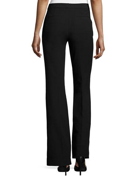 Slim-Fit Boot-Cut Pants, Black