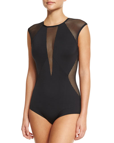 Kayak Net-Insert One-Piece Swimsuit