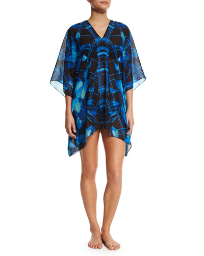 Sophia Printed Georgette Coverup, Regatta