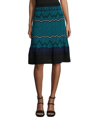 Frequency Zigzag Skirt
