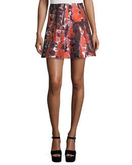 Topiary Jacquard Dakota Mini Skirt