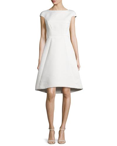 Cap-Sleeve A-line Cocktail Dress