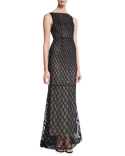 Jay Sleeveless Embellished Gown