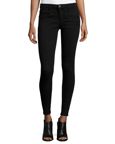 The Welt Pocket Ankle Jeans, Black