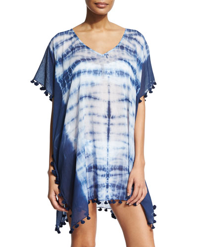 Project Tie-Dye Short Caftan Coverup