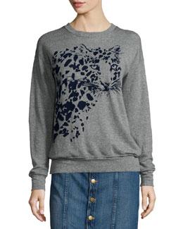 The Greta Long-Sleeve Sweatshirt,  Heather Gray