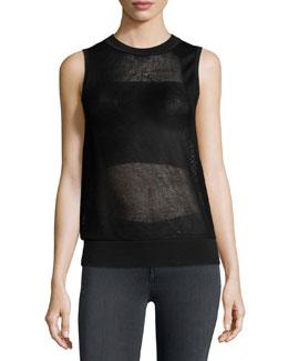 Shea Mesh Vest, Black