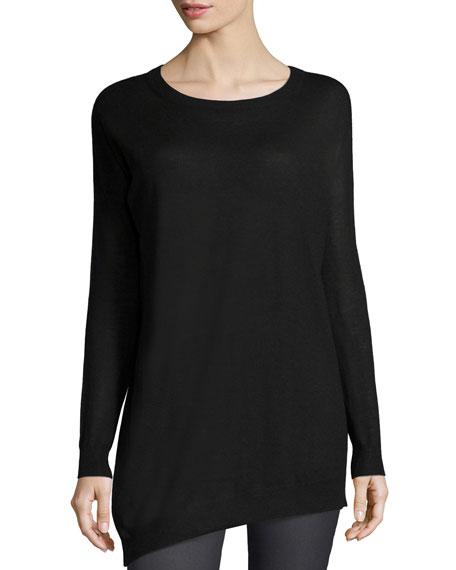 2daf157bf7f Joseph Asymmetric Cashmere Tunic Sweater, Black