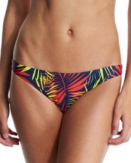 St. Lucia Palm-Print Swim Bottom