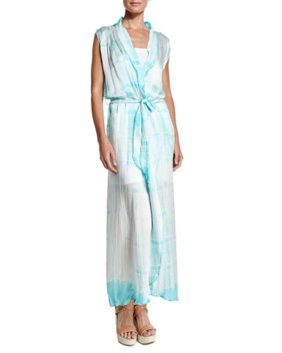 Royal Hawaiian Tie-Dye Maxi Dress