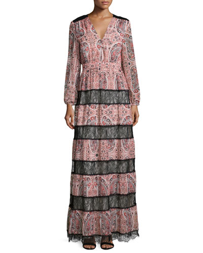 Daren Paisley Boho Maxi Dress, Multicolor